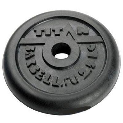 Блин обрезиненный TITAN Barbell 2,5 кг (d31)